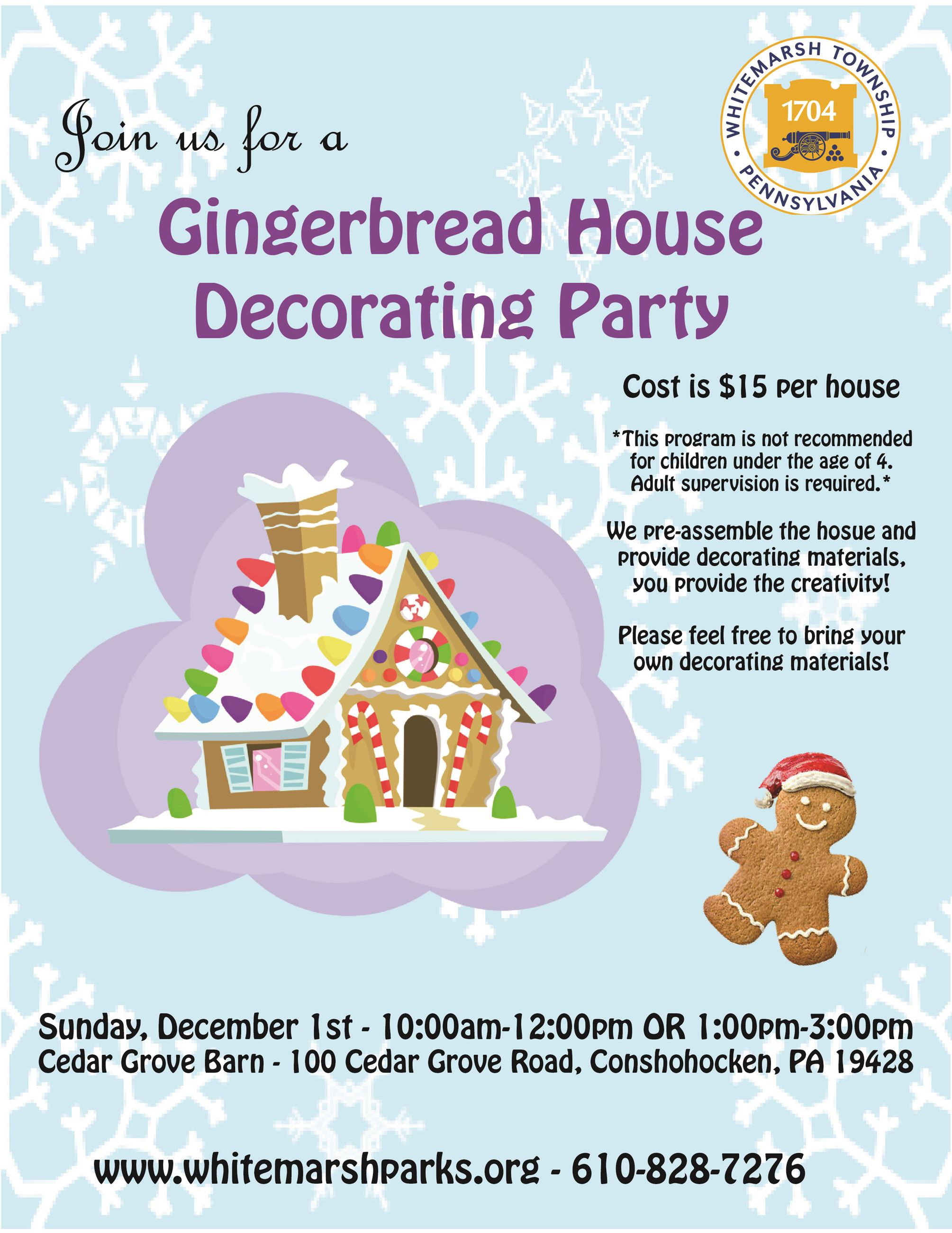 2019 Gingerbread House Decorating